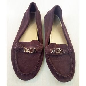 Coach Burgundy Fortunata Driving Loafers